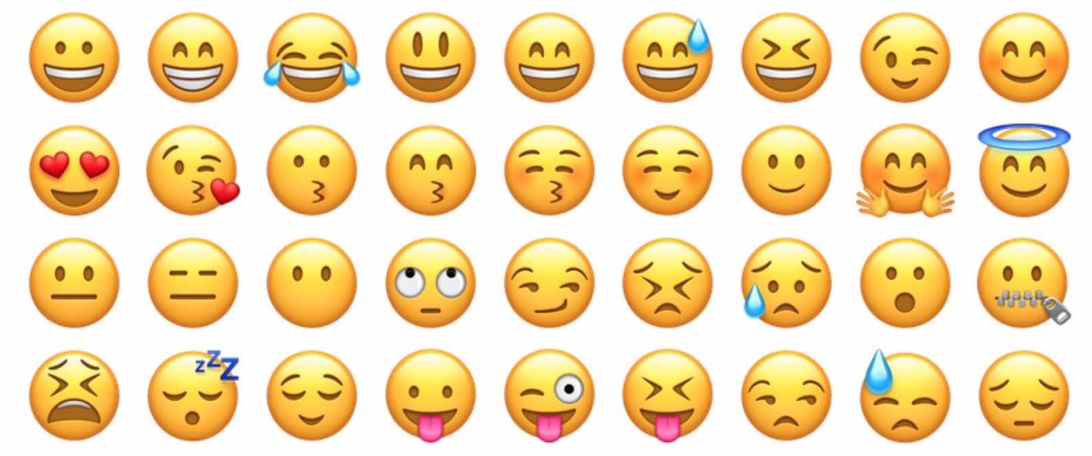 1. Wait until after the first date for flirty emoji.